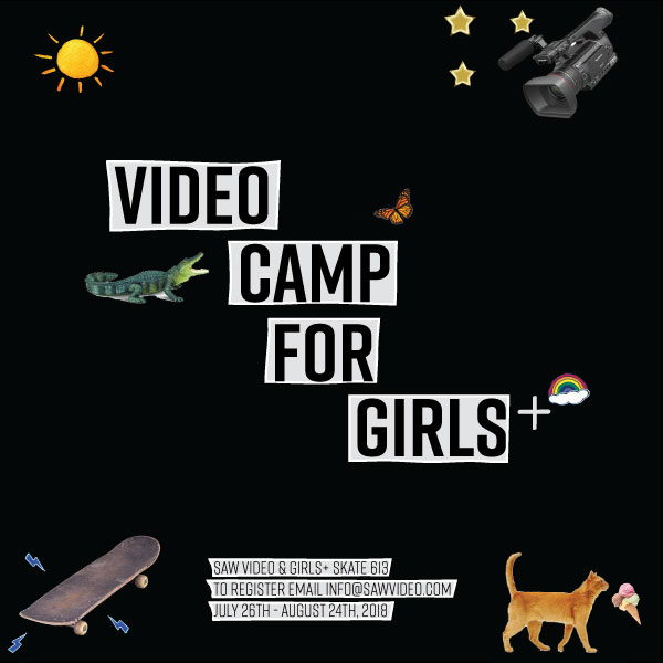 video camp for girls instagram pic with rainbows and crocodiles