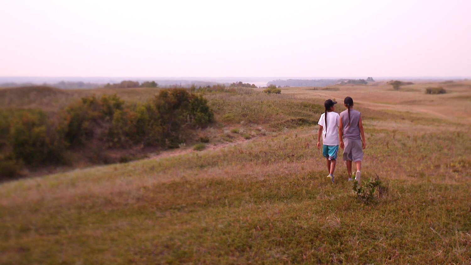still Stand Up Tasha Hubbard | Canada 2019 - two young idigenous children walking in the prairies