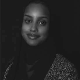 Headshot of SAW Video's Communications Assistant, Maryam Sayid.